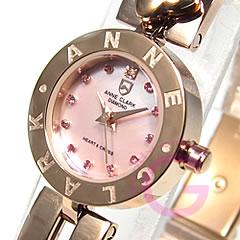 ANNE CLARK アンクラーク AM-1020-17PG/AM1020-17PG ブレスタイプ マザーオブパール ダイヤモンド ピンクゴールド レディース 腕時計 【あす楽対応】