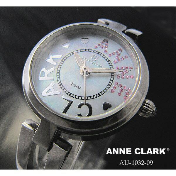 ANNE CLARK アンクラーク レディース マザーオブパール ハート シルバー AU-1031-17/AU1031-17 腕時計