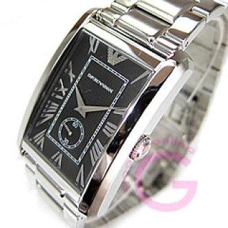 EMPORIO ARMANI ( Emporio Armani ) AR1608 classic small second metal belt black mens watch