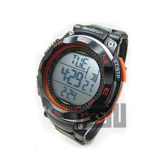 Armitron (armitron) 40-8254ORG digital black × orange rubber belt watch