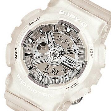 CASIO BABY-G (カシオ ベビーG) BA-110-7A2/BA110-7A2 BigCase Series/ビッグケースシリーズ アナデジコンビ ホワイト レディースウォッチ 腕時計 (日本版型番:BA-110-7A2JF/BA110-7A2JF)