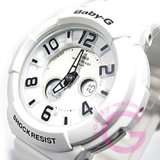 CASIO baby-g (CASIO baby G) BGA-132-7B/BGA132-7B neon dial series whole white ladies watch watches