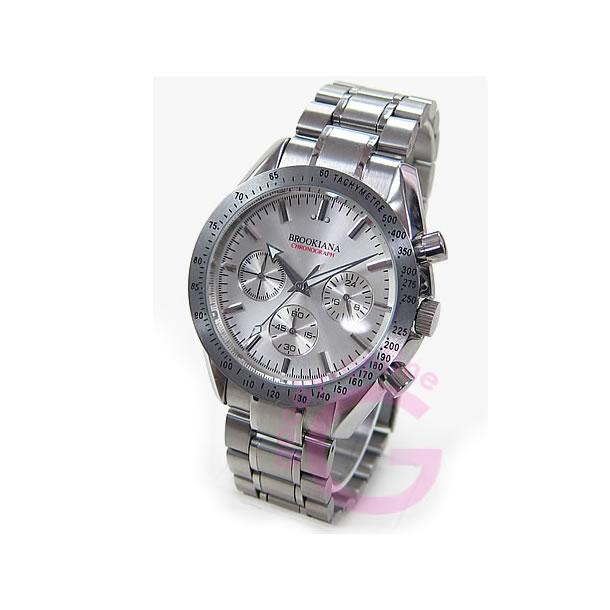 BROOKIANA (ブルッキアーナ) BA1613 クロノグラフ シルバー メンズウォッチ 腕時計 【あす楽対応】