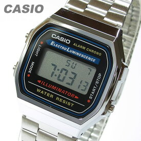 CASIO カシオ A-168WA-1 スタンダード デジタル メンズ クロノグラフ シルバー キッズ 子供 かわいい チープカシオ チプカシ 腕時計 【あす楽対応】