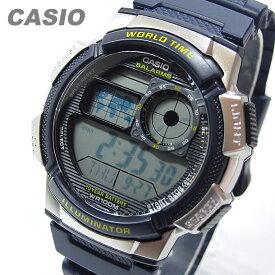 CASIO カシオ AE-1000W-2A/AE1000W-2A スポーツ ワールドタイム搭載 ブルー キッズ 子供 かわいい メンズ チープカシオ チプカシ 腕時計【あす楽対応】
