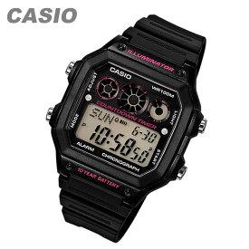 CASIO カシオ AE-1300WH-1A2/AE1300WH-1A2 スポーツ デジタル ブラック/ピンク キッズ 子供 かわいい メンズ/ユニセックス チープカシオ チプカシ 腕時計