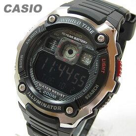 CASIO カシオ AE-2000W-1B/AE2000W-1B スポーツギア マルチタイム搭載 ブラック キッズ 子供 かわいい メンズ チープカシオ チプカシ 腕時計 【あす楽対応】