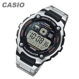 CASIO カシオ AE-2000WD-1A/AE2000WD-1A SPORTS GEAR スポーツギア マルチタイム搭載 メタルベルト キッズ 子供 かわいい メンズ チープカシオ チプカシ 腕時計