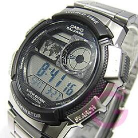CASIO カシオ AE-1000WD-1A/AE1000WD-1A スポーツ ワールドタイム搭載 メタルベルト キッズ 子供 かわいい メンズ チープカシオ チプカシ 腕時計 【あす楽対応】
