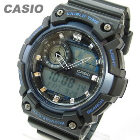 CASIO カシオ AEQ-200W-2A/AEQ-200W-2A アナデジ ワールドタイム ブルー キッズ 子供 メンズ チープカシオ チプカシ 腕時計 【あす楽対応】