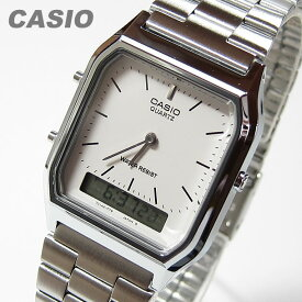 CASIO カシオ AQ-230A-7D/AQ230A-7D アナデジ メタルベルト シルバー シルバーダイアル キッズ 子供 かわいい ユニセックス チープカシオ チプカシ 腕時計