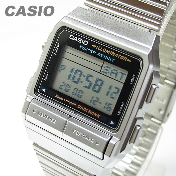 【メール便送料無料】 CASIO DATA BANK (カシオ データバンク) DB-380-1D/DB380-1D テレメモ デジタル シルバー キッズ 子供 かわいい メンズ チープカシオ チプカシ 腕時計 【あす楽対応】