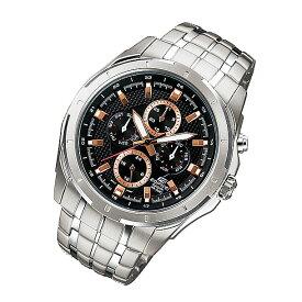 CASIO EDIFICE カシオ エディフィス EF-328D-1A5/EF328D-1A5 インダイアルカレンダー ブラックダイアル メタルベルト シルバー メンズ 海外モデル 腕時計