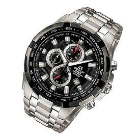 CASIO EDIFICE カシオ エディフィス EF-539D-1A/EF539D-1A クロノグラフ ブラックダイアル メタルベルト シルバー メンズ 海外モデル 腕時計