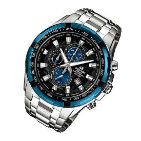 CASIO EDIFICE(カシオ エディフィス) EF-539D-1A2/EF539D-1A2 クロノグラフ メタルベルト ブルー×シルバー メンズウォッチ 海外モデル 腕時計