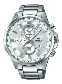 CASIO EDIFICE(カシオ エディフィス) EFR-303D-7A/EFR303D-7A ワールドタイム メタルベルト シルバー メンズウォッチ 海外モデル 腕時計