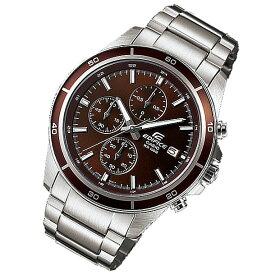 CASIO EDIFICE カシオ エディフィス EFR-526D-5A/EFR526D-5A クロノグラフ ブラウンダイアル メタルベルト シルバー メンズ 海外モデル 腕時計