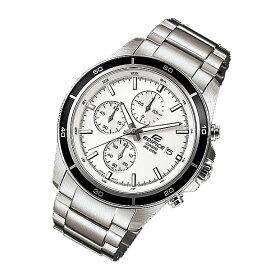 CASIO EDIFICE カシオ エディフィス EFR-526D-7A/EFR526D-7A クロノグラフ ホワイトダイアル メタルベルト シルバー メンズ 海外モデル 腕時計