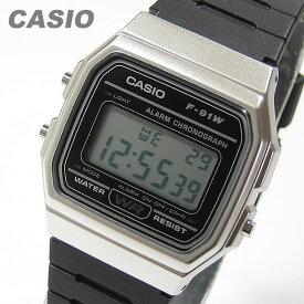 【メール便送料無料】 CASIO カシオ F-91WM-7A/F91WM-7A ベーシック デジタル ブラック/シルバー キッズ 子供 かわいい メンズ/ユニセックス チープカシオ チプカシ 腕時計 【あす楽対応】