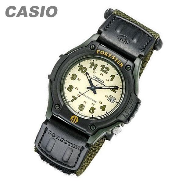 【メール便送料無料】 CASIO カシオ FORESTER/フォレスター FT-500WC-3B/FT500WC-3B ミリタリーテイストナイロンベルト ブラック/グリーン キッズ 子供 メンズ チープカシオ チプカシ 腕時計