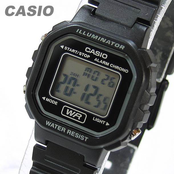 【メール便送料無料】【箱無し品】 CASIO カシオ LA-20WH-1A/LA20WH-1A スタンダード デジタル ブラック キッズ 子供 かわいい レディース チープカシオ チプカシ 腕時計