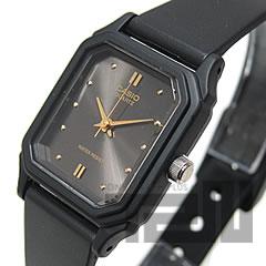 CASIO(カシオ) LQ-142E-1A/LQ142E-1A ベーシック アナログ ブラック キッズ・子供 かわいい! レディースウォッチ チープカシオ 腕時計