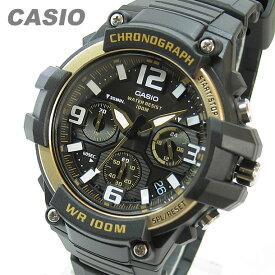 CASIO カシオ MCW-100H-9A2/MCW100H-9A2 クロノグラフ ブラック/ゴールド キッズ 子供 かわいい メンズ チープカシオ チプカシ 腕時計 【あす楽対応】