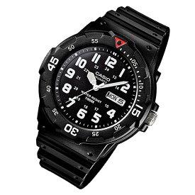 【メール便送料無料】CASIO カシオ MRW-200H-1B/MRW200H-1B スポーツギア ミリタリーテイスト ブラック/レッドポイント ペアモデル キッズ 子供 かわいい メンズ チープカシオ チプカシ 腕時計