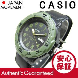 卡西欧 (卡西欧) 润达-200HB-1B/MRW200HB-1B 运动的齿轮军事尼龙带黑色 / 卡其色叠加的孩子 / 孩子们的可爱! -便宜的卡西欧男士手表