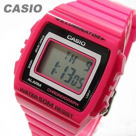 CASIO カシオ W-215H-4A/W215H-4A ベーシック デジタル ピンク キッズ 子供 かわいい メンズ チープカシオ チプカシ 腕時計 【あす楽対応】