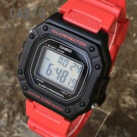 CASIO/チープカシオ W-218H-4B/W218H-4B スタンダード デジタル レッド メンズ チプカシ キッズ/子供にもオススメ! 腕時計