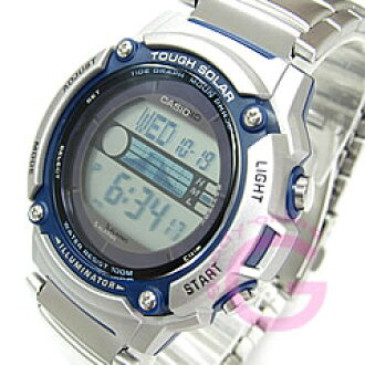 卡西欧 (卡西欧) W-S210HD-1A/WS210HD-1A 体育齿轮艰难太阳能动力的世界时间潮汐图孩子和儿童推荐 ! 真可爱! 男式手表手表