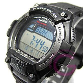 卡西欧 (卡西欧) W-S220-1AV/WS220-1AV 标准强壮的太阳能供电 120 圈内存孩子们,孩子们推荐 ! 可爱 ! 男装手表