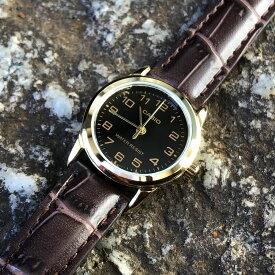 CASIO カシオ LTP-V001GL-1B/LTPV001GL-1B ベーシック アナログ ゴールドケース ブラック キッズ 子供 かわいい レディース チープカシオ チプカシ 腕時計 【あす楽対応】