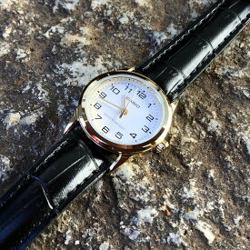 CASIO カシオ LTP-V001GL-7B/LTPV001GL-7B ベーシック アナログ ゴールドケース ホワイト キッズ 子供 かわいい レディース チープカシオ チプカシ 腕時計 【あす楽対応】