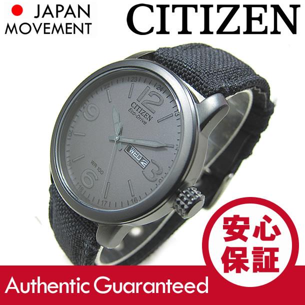 CITIZEN (シチズン) BM8475-00FB EcoDrive/エコドライブ ソーラー キャンバスベルト ブラック メンズウォッチ 腕時計 【あす楽対応】