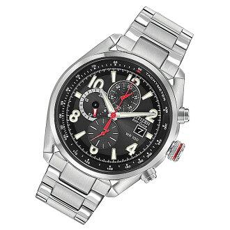 西铁城(居民)CA0368-56E Eco-Drive/环保开车兜风计时仪黑色金属皮带人表手表