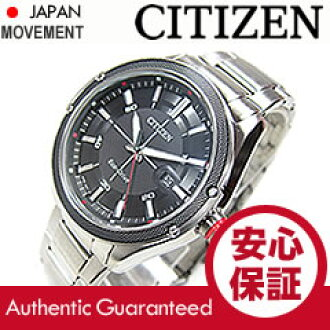 CITIZEN (citizen) BM6890-50E EcoDrive / eco-drive solar black dial metal belt watch watches