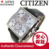 CITIZEN (citizen) BT0070-01 A EcoDrive / eco-drive solar black x silver leather belt watch