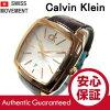 Calvin Klein (Calvin Klein) K2K21620/K2K216.20 Recess / rice sell gold / silver leather belt men's watch