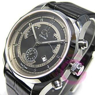 Calvin Klein (Calvin Klein) biz chronograph retrograde K77311.02/K7731102 leather belt men's watch
