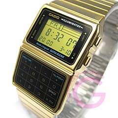 CASIO DATA BANK (カシオ データバンク) DBC-611G-1/DBC611G-1 テレメモ 計算機/電卓 ゴールド キッズ 子供 かわいい ユニセックス チープカシオ チプカシ 腕時計 【あす楽対応】