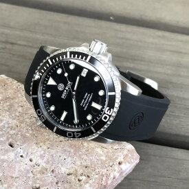 DEEP BLUE(ディープブルー)ダイバーズウォッチ DIVER 1000 II 40MM 330M/30気圧防水 SEIKO 自動巻きムーブメント セラミックべセル ブラックダイアル dvr40bktripl 腕時計
