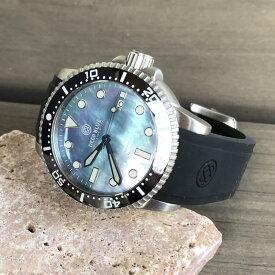 DEEP BLUE(ディープブルー)ダイバーズウォッチ MASTER 1000 II 44MM 330M/30気圧防水 SEIKO 自動巻きムーブメント セラミックべセル ブラックパールダイアル mstr442bkplatmop 腕時計