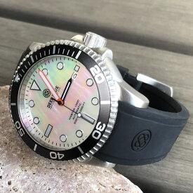 DEEP BLUE(ディープブルー)ダイバーズウォッチ MASTER 1000 II 44MM 330M/30気圧防水 SEIKO 自動巻きムーブメント セラミックべセル ビンテージ ホワイトパールダイアル MSTR442WHMOP 腕時計