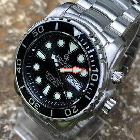 DEEP BLUE (ディープブルー) PSD1KBLACK Pro Sea Diver 1000m防水 ダイバーズ 日本製 Seiko NH36 自動巻きムーブメント搭載 ブラックダイアル 腕時計