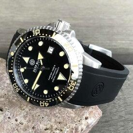 DEEP BLUE(ディープブルー)ダイバーズウォッチ MASTER 1000 II 44MM 30気圧防水 SEIKO 自動巻きムーブメント セラミックべセル ヴィンテージルミナスインデックス ブラックダイヤル m1k2arvint 腕時計