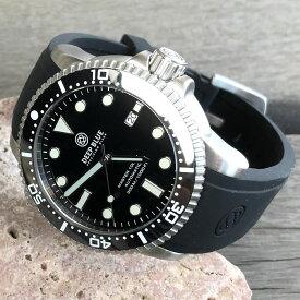 DEEP BLUE(ディープブルー)ダイバーズウォッチ MASTER 1000II 30気圧防水 SEIKO 自動巻きムーブメント ブラックダイアル M1000BLKTRIPLE 腕時計