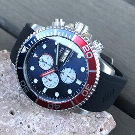 DEEP BLUE(ディープブルー)ダイバーズウォッチ MASTER 1000 クロノグラフ 44MM 30気圧防水 Citizen/シチズン Miyota OS 10クォーツムーブメント ペプシ/PEPSセラミックべセル ブルーダイヤル M1KCROPE腕時計