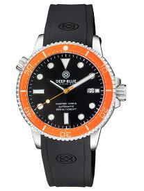 DEEP BLUE(ディープブルー)ダイバーズウォッチ MASTER 1000 II 44MM 330M/30気圧防水 SEIKO 自動巻きムーブメント セラミックべセル ビンテージ ブラックダイアル MSTR442OGBLK 腕時計
